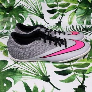 Nike Mercurial X Pro IC grey black soccer shoes 11